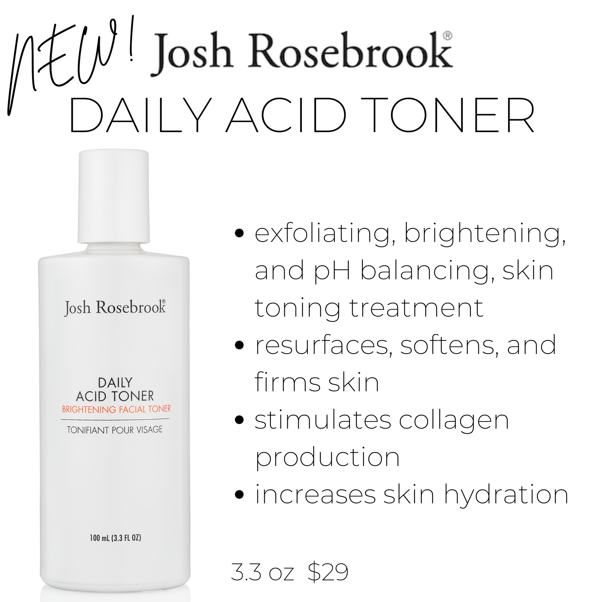 new! josh rosebrook daily acid toner