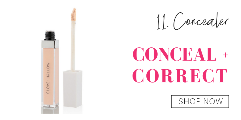 11. concealer: conceal and correct from clove and hallow