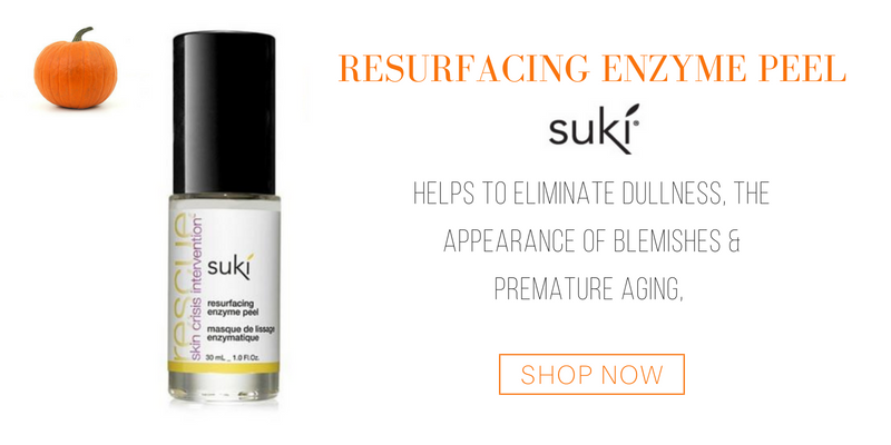 resurfacing enzyme peel from suki. helps to eliminate dullness, the appearance of blemishes and premature aging.
