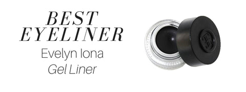 best eyeliner: evelyn iona gel liner