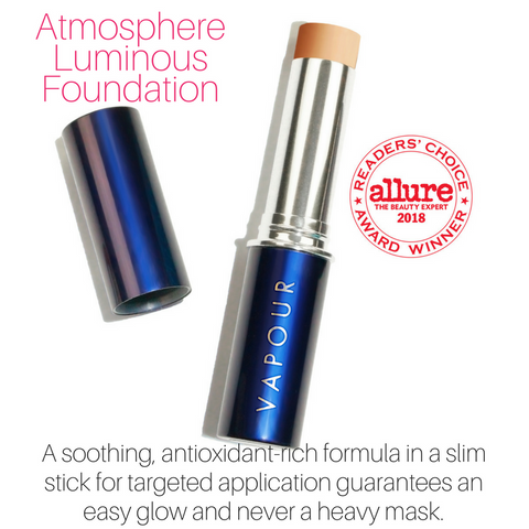 atmosphere luminous foundation: a soothing, antioxidant-rich formula in a slim stick for targeted application guarantees an easy glow and never a heavy mask.