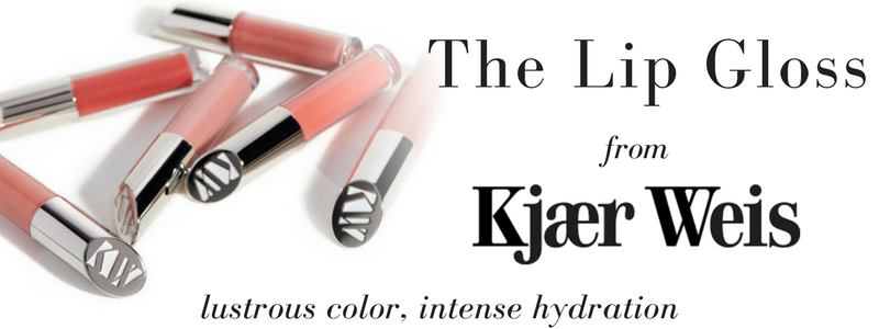 the lip gloss from kjaer weis. lustrous color, intense hydration
