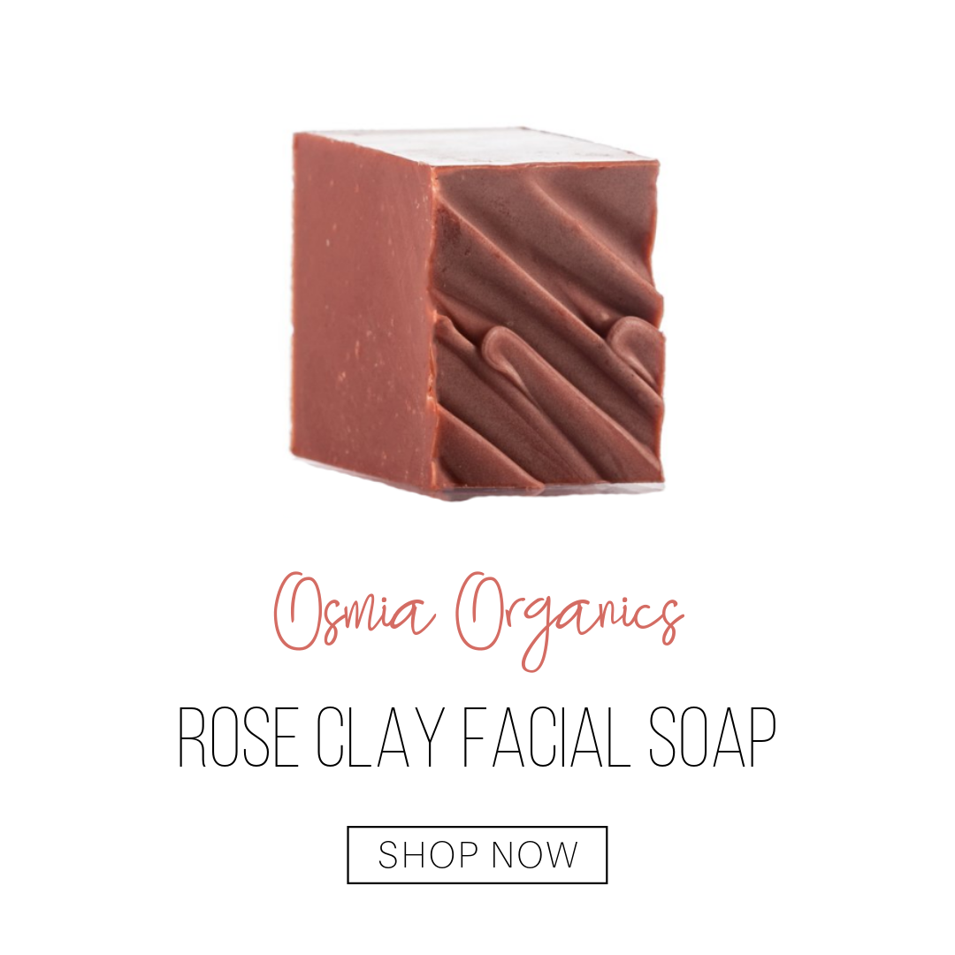 rose clay facial soap from osmia organics