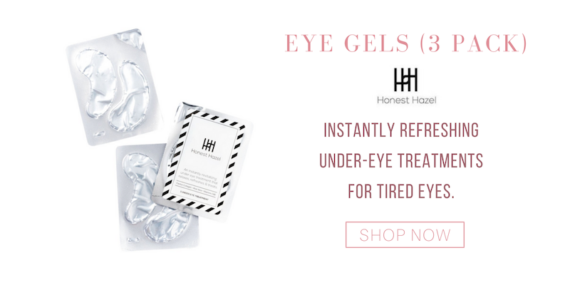 eye gels (3 pack) from honest hazel. instantly refreshing under-eye treatments for tired eyes.