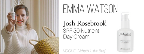 emma watson - josh rosebrook spf 30 nutrient day cream