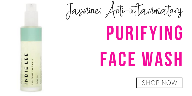 jasmine: anti-inflammatory. purifying face wash from indie lee