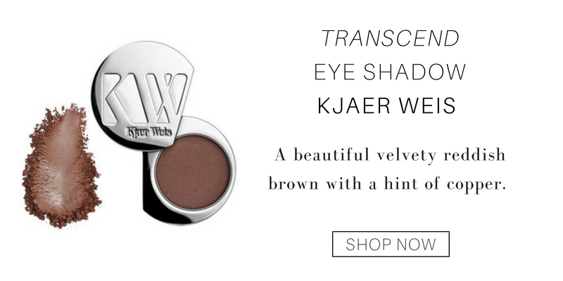 transcend eye shadow from kjaer weis. a beautiful velvety reddish brown with a hint of copper.