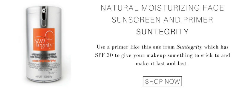 natural moisturizing face sunscreen and primer from suntegrity: use a primer like this one from suntegrity which has spf 30 to give your makeup something to stick to and make it last and last.