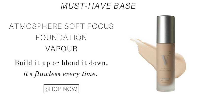 must have base: atmosphere soft focus foundation from vapour. build it up or blend it down, it's flawless every time.