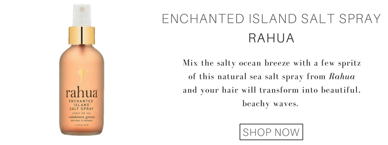 enchanted island salt spray from rahua: mix the salty ocean breeze with a few spritz of this natural sea salt spray from rahua and your hair will transform into beautiful, beachy waves.