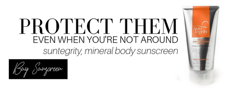 protect them even when you're not around: suntegrity, mineral body sunscreen