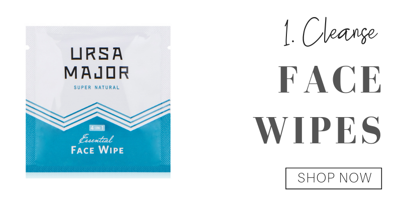 1. cleanse: ursa major face wipes