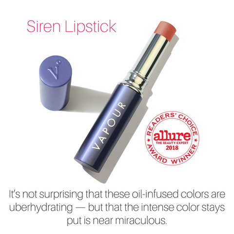 siren lipstick: it's not surprising that these oil-infused colors are uber hydrating - but that the intense color stays put is near miraculous.