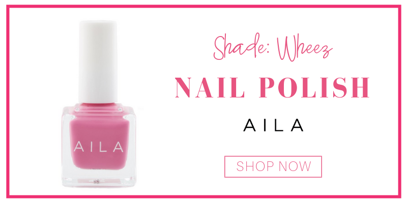 nail polish in the shade wheez from aila