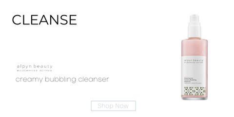 cleanse: creamy bubbling cleanser from alpyn beauty