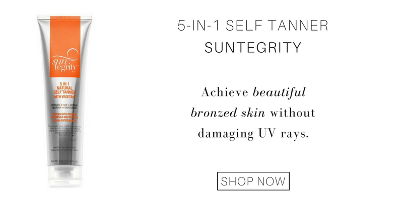 5-in-1 self tanner from suntegrity: achieve beautiful bronzed skin without damaging uv rays.