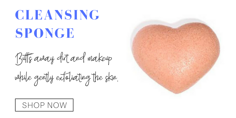 cleansing sponge. buffs away dirt and makeup while gently exfoliating the skin.