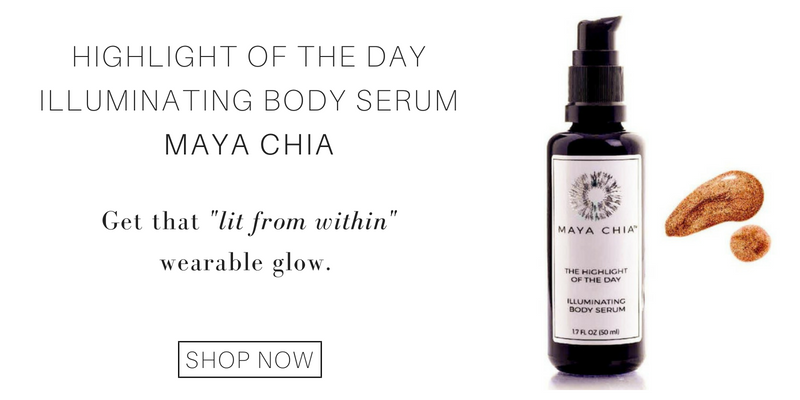 "highlight of the day illuminating body serum from maya chia: get that ""lit from within"" wearable glow."