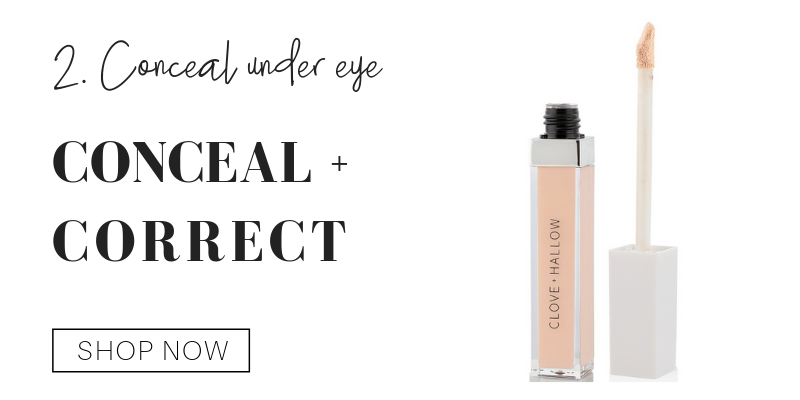 2. conceal under eye using conceal and correct from clove and hallow