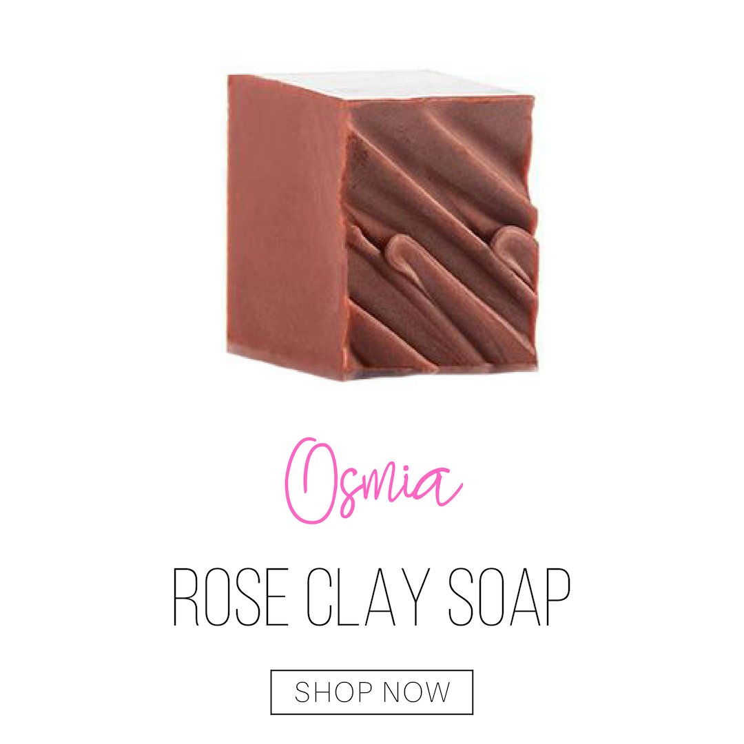 rose clay soap from osmia