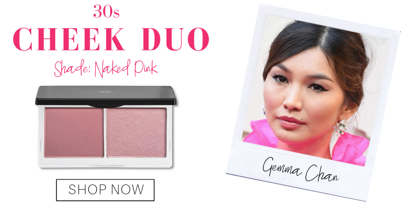 30s: cheek duo in the shade naked pink from lily lolo. pictured: gemma chan