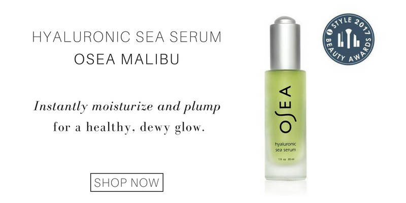 hyaluronic sea serum from osea malibu. instantly moisturize and plump for a healthy, dewy glow.
