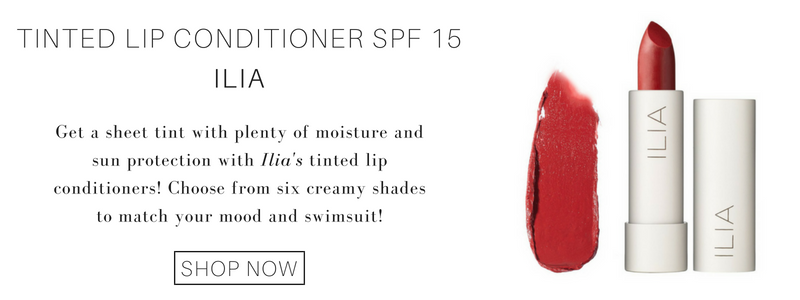 tinted lip conditioner spf 15 from ilia: get a sheer tint with plenty of moisture and sun protection with ilia's tinted lip conditioners! choose from six creamy shades to match your mood and swimsuit!