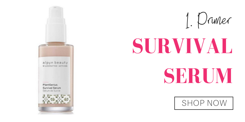 1. primer: survival serum from alpyn beauty