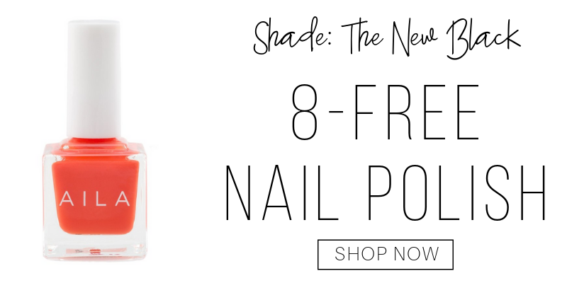 8-free nail polish in the shade the new black from aila