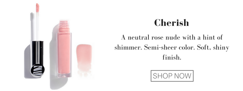 cherish: a neutral rose nude with a hint of shimmer. semi-sheer color. soft, shiny finish.