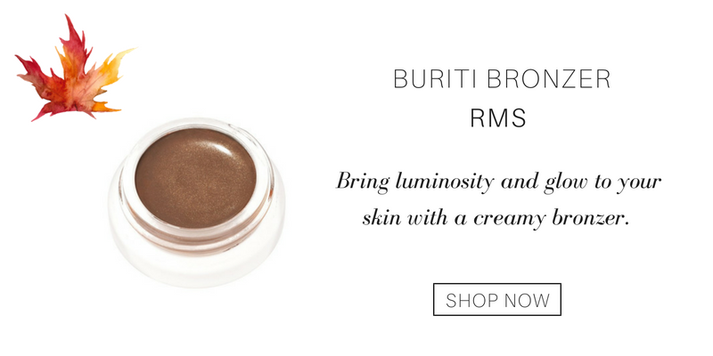 buriti bronzer from rms. bring luminosity and glow to your skin with a creamy bronzer.