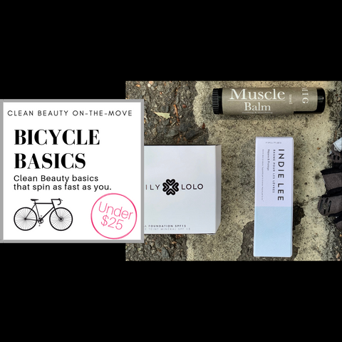 clean beauty on the move: bicycle basics. clean beauty basics that spin as fast as you.
