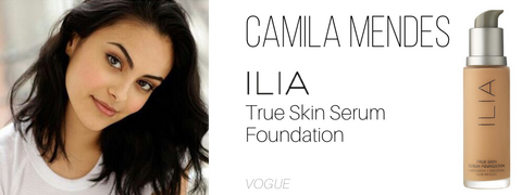 camila mendes: ilia true skin serum foundation