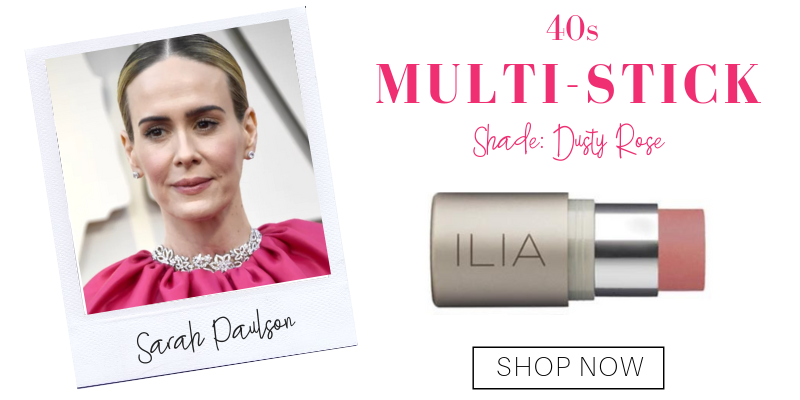 40s: multi-stick in the shade dusty rose from ilia. pictured: sarah paulson
