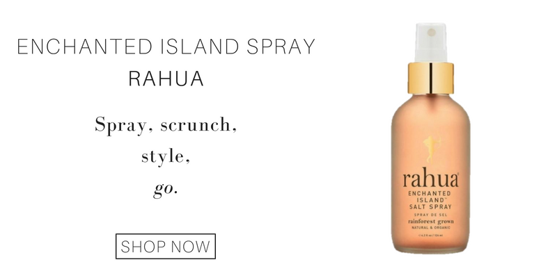enchanted island spray from rahua: spray, scrunch, style. go.