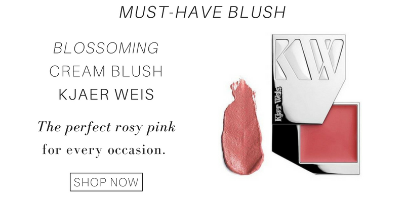 must-have blush: cream blush from kjaer weis. the perfect rosy pink for every occasion