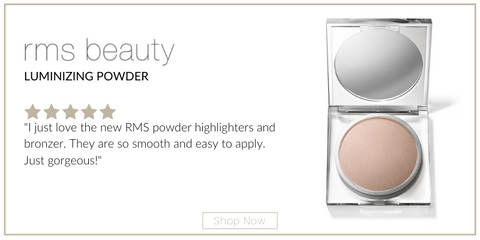 "luminizing powder from rms beauty. 5 star rating. customer review: ""I just love the new RMS powder highlighters and bronzer. They are so smooth and easy to apply. Just gorgeous!"""