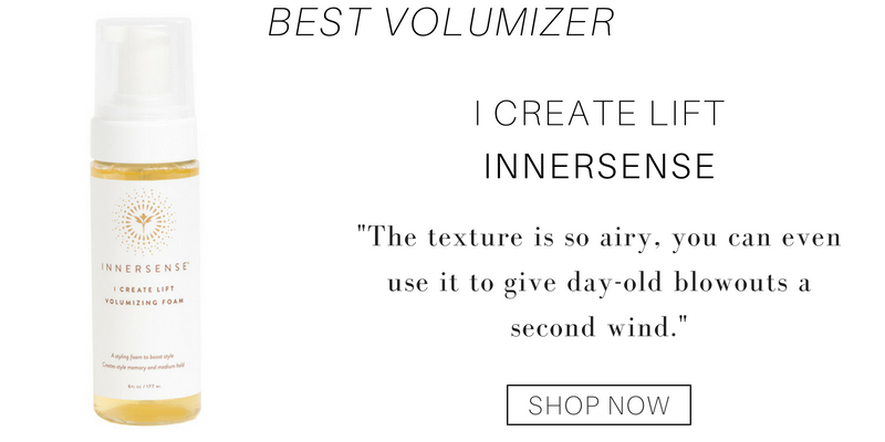 "best volumizer: I create lift from innersense. ""the texture is so airy, you can even use it to give day old blowouts a second wind"""