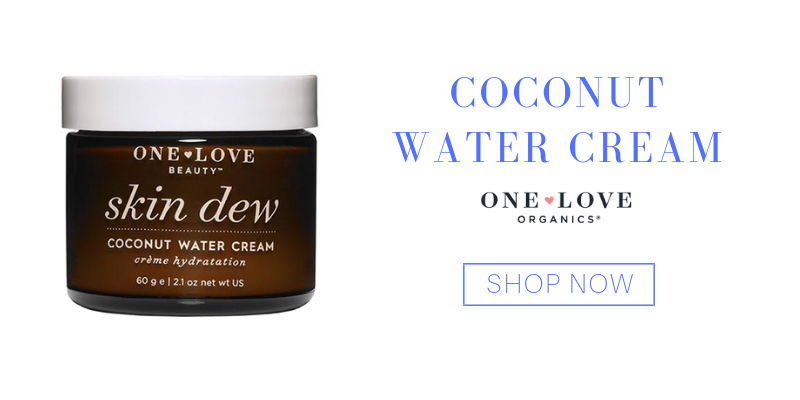 coconut water cream from one love organics
