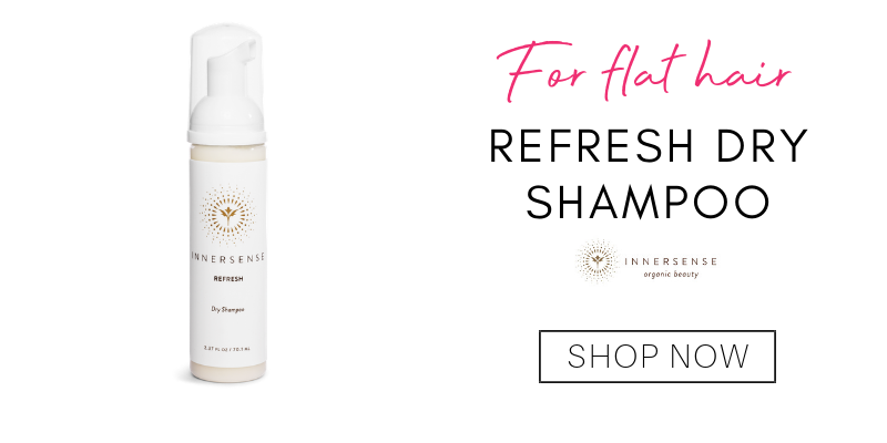 for flat hair: refresh dry shampoo from innersense