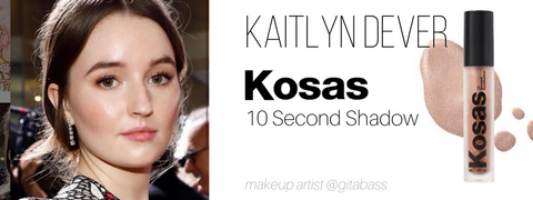 kaitlyn dever: kosas 10 second shadow