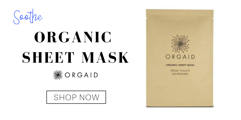 soothe: organic sheet mask from orgaid
