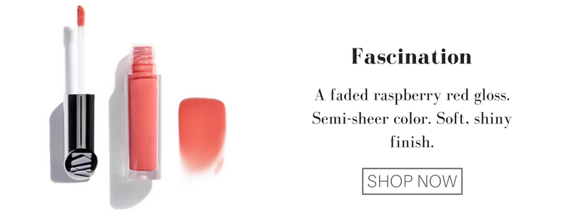 fascination: a faded raspberry red gloss. semi-sheer color. soft, shiny finish.