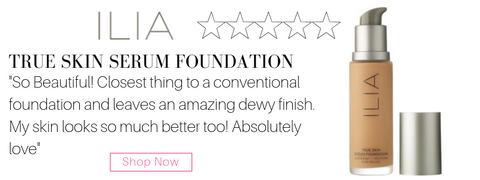 "ilia true skin serum foundation. ""so beautiful! closest thing to a conventional foundation and leaves an amazing dewy finish. my skin looks so much better too! absolutely love"""