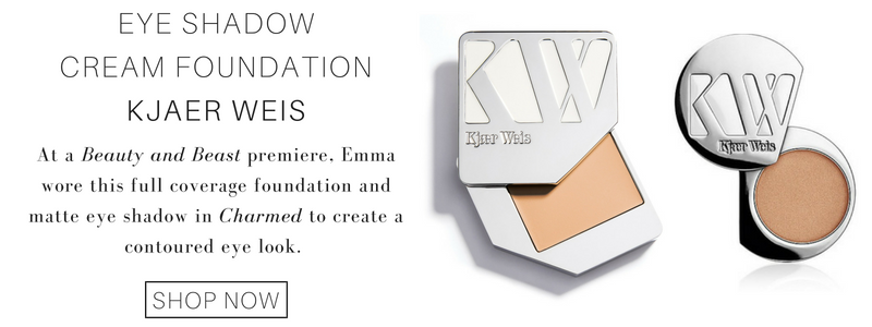 eye shadow cream foundation from kjaer weis: at a beauty and beast premiere, emma wore this full coverage foundation and matte eye shadow in charmed to create a contoured eye look.