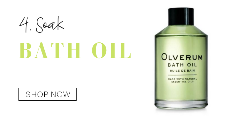 4. soak: bath oil from olverum