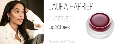 laura harrier - rms beauty lip2cheek