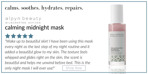 alpyn calming midnight mask
