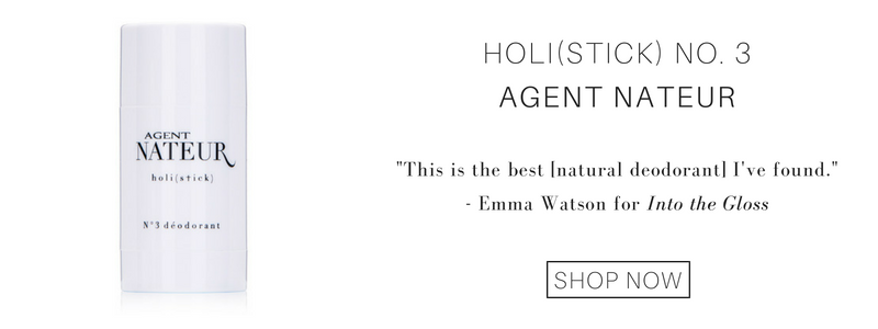 "holi(stick) no 3. from agent nateur: ""this is the best (natural deodorant) i've found."" - emma watson for into the gloss"
