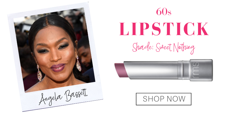 60s: lipstick in the shade sweet nothing from rms beauty. pictured: angela bassett